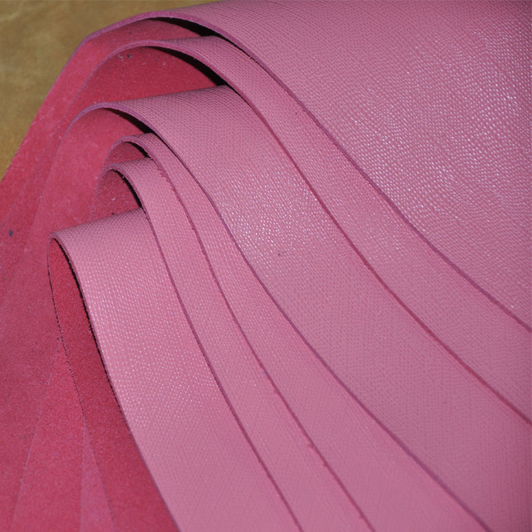 Sunflower material cowhide genuine leather raw material leather fabric genuine leather pink crocheters big(China (Mainland))