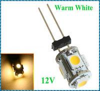 20pcs/lot G4 5 Warm White SMD LED 5050 Light Home Car RV Marine Boat Lamp Bulb DC-12V Wholesale