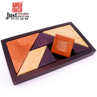 Wooden play adult wooden tangram puzzle three-dimensional puzzle intelligence toys