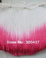 25cm long Rayon Fringe tassel lace loop bottom trimming Mixed Color for latin dress samba wear tie dye gradient  25cm