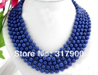 "100"" 8mm nature round lapis lazuli necklace"