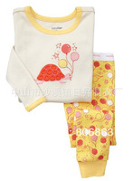 6sets/lot baby wear set 100% conton baby long sleeve pajamas boy's and girl's underwear clothing sets kids clear suits sets A052