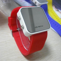Jelly watch candy color silicone LED watch, free shipping