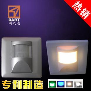 Gold silver 86 led infrared sensor lamp holding-down lamp stair steps small night light