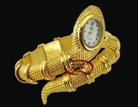 2013 snake gold watches womens quartz jewellery bangle snake watch, Free Shipping