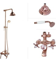 3way bathroom bath rose gold plated shower set function mixer tap faucet rainfall shower head
