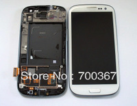 4pcs/lot Guaranteed 100% lcd with touch screen assembly for Galaxy S3 I9300 I535 with frame +free shipping dhl