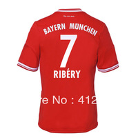 Ribery Home Red soccer Jersey 13/14