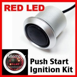 12V Car Engine Start Red LED Push Switch Ignition Starter Kit(China (Mainland))