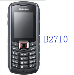 Original unlocked B2710 waterproof IP67 Quad-Band cell phones 3G bluetooth  one year warranty with Free shipping