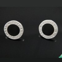 Free Shipping 925 Sterling Silver Plated Black Stud Earrings Women Earrings Nickel Free Antiallergic Wholesale FSE150