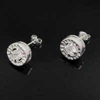 Free Shipping 925 Sterling Silver Plated Special Log Stud Earrings Women Earrings Nickel Free Antiallergic Wholesale FSE116