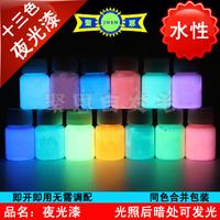 Super bright neon paint luminous paint diy luminous powder water color luminous paint  30g/piece 13color