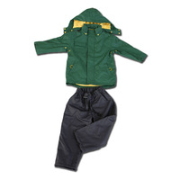 free shipping Short in size child raincoat double layer thickening split raincoat rain pants set