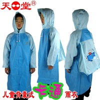 free shipping Shiralee cartoon child raincoat school bag belt student poncho male female child fashion