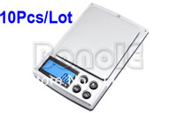 10pcs/Lot Wholesale 500g / 0.1g Electronic Digital Jewelry Pocket  scales Weighing Portable Kitchen Scales balance 1440
