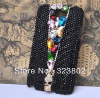 Handmade Bling Rhinestone Crystal Skull Case Cover For Samsung GALAXY Note N7000 / Note2  N7100 / S 3 i9300 / S4 or IV i9500