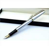 Free Shipping NEW 1pcs HERO 704 Fine Nib Fountain Pen silvery Hot