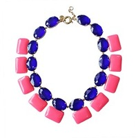Fashion high quality synthetic fashion senior gem candy color luxury fresh necklace