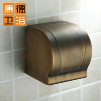 Copper antique tissue box paper holder fashion toilet paper box top waterproof wall mounted paper holder (KP)