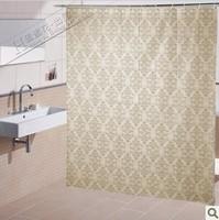 Free shipping Honey flower shower curtain thickening PEVA waterproof bathroom curtain cloth fashion square grid fashion shower