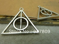 30pcs/lot Antique Silver 32*32mm Triangle Pendant Diy Jewelry Accessories Free Delivery