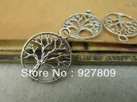 Free Delivery Antique Silver Circle Tree 20mm  Diy Accessories Vintage 40pcs/lot