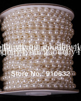5 Meters Ivory White Flatback Half Round Pearl Garland Wedding Party Centerpiece Decoration 6mm