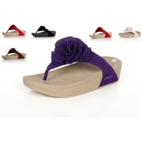Irsoe essoesso gladiator style body shaping shoes weight loss wedges platform flip flops drag the folder flower sandals
