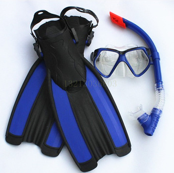 free shipping Flipper triratna submersible mirror fins breathing tube set piece set submersible