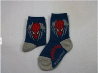 Free shipping 4-6 year-old boy cartoon cotton socks, Spider-Man