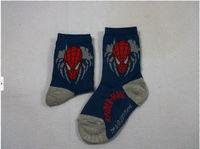 Free shipping 4-6 year-old boy cartoon cotton socks, Spider-Man