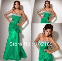 Free shipping sexy strapless sweetheart beaded evening dress fashion 2013 JED021