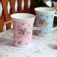 Rose tea rustic drink  microwave oven ceramic mug milk cup