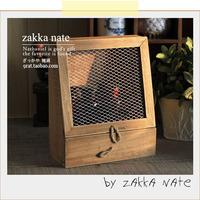 Zakka retro finishing wood ridel iron wire storage cabinet with drawer hemp rope props