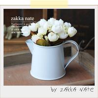 Zakka milk cup metal flower pot statuesque kettle vase artificial flower set props