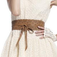 Cutout print strap ring cummerbund fashion wide women's cummerbund all-match wide belt