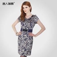 2013 women's slim ladies one-piece dress plus size small one-piece dress