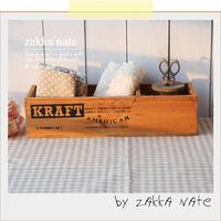 Zakka 3 fps solid wood storage box 3 pen remote control box display box wooden box