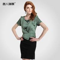 2013 women's professional set ol faux two piece slim one-piece dress