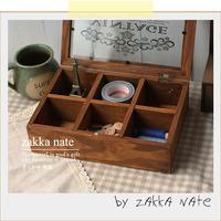 Zakka retro finishing glass flip logs of wood storage box decoration box jewelry box storage box