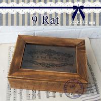 Zakka 7building glass jewelry box storage box vintage ridel