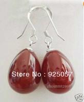 beautiful Water drops red Jade Earrings Fashion jewelry