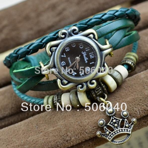 Fashion Leather Strap watchband Vintage Watch Dress Wrist Bracelet Watch  for Women Grils 1pcs/lot