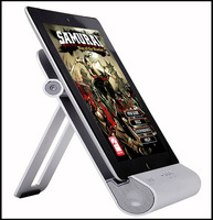 Free Shipping iPEGA Foldable Bass Audio Metal Speaker Amplifier Dock Charger Stand for iPad 2 3 iPhone 4 4S Ipod