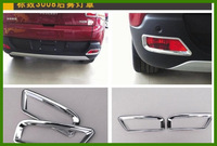 Free shipping! High quality  ABS Chrome peugeot 3008 2pcs rear fog light cover/rear fog lamp cover/lamp shade