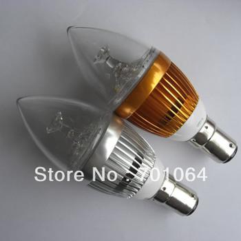 3X3W B15 LED candle bulbs B15 High power 9W LED Bulb 10pcs/lot