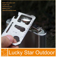 20PCS/ lot Multi Swiss saber Card Knife Outdoor Survival Card Blade pocket Camping tool free shipping