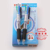 0.7mm  12 pcs x M&G Clip-on Multi pen (4 color ballpen)