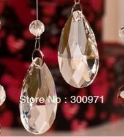 Transparent color 38mmx 22mm of crystal chandelier pendants/crystal curtain pendants,crystal chandelier parts (360pcs/lot)